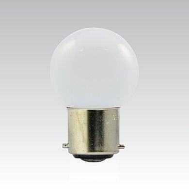 NBB NBB LED G45 230-240V 1W/010 COLOURMAX B22d BÍLÁ IPX4 250655110