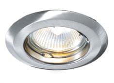 Light Impressions Light Impressions Kapego stropní vestavné svítidlo 12V AC/DC GU5.3 / MR16 1x max. 50,00 W stříbrná 442058