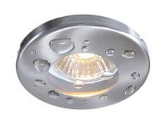 Light Impressions Light Impressions Kapego stropní vestavné svítidlo 12V AC/DC GU5.3 / MR16 1x max. 35,00 W stříbrná 122420