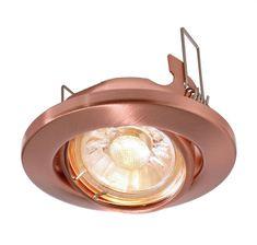 Light Impressions Light Impressions Kapego stropní vestavné svítidlo 12V AC/DC GU5.3 / MR16 1x max. 50,00 W měď 686867