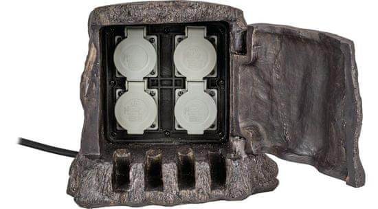 HEITRONIC HEITRONIC sloupek se zásuvkami BAUMSTUMPF 4násobná 37500