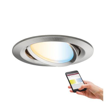 Paulmann PAULMANN SmartHome Zigbee vestavné svítidlo LED Coin Nova Plus 1x6,5W měnitelná bílá kruhové kov kartáčovaný 929.61 P 92961 92961