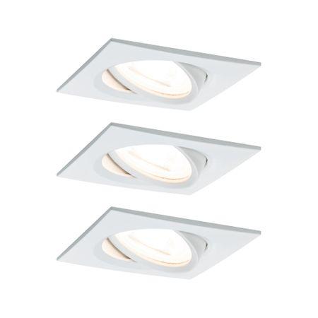 Paulmann PAULMANN Vestavné svítidlo LED Nova hranaté 3x6,5W GU10 bílá mat výklopné 934.36 P 93436 93436