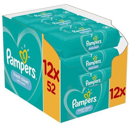 Pampers Nedves törlőkendő Fresh Clean 12x52db