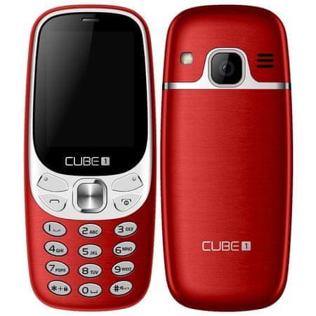 CUBE1 telefon F500, Red