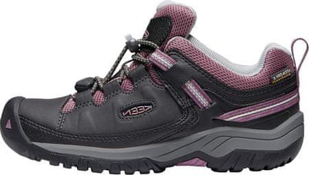 KEEN dětská trekingová obuv TARGHEE LOW WP Y 32/33 černá
