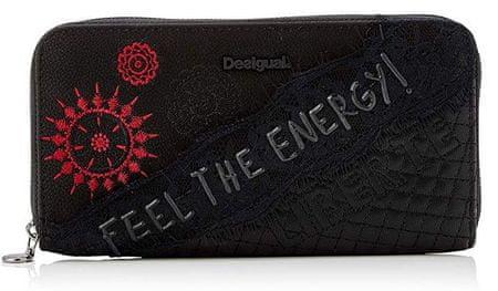 Desigual Mone Rep Comunika Zip Around ženska denarnica, črna