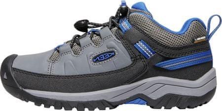 KEEN dětská trekingová obuv TARGHEE LOW WP Y 39 šedá
