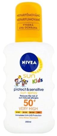 Nivea Sun Kids Pure & Sensitive Dětský Sprej Na Opalování OF50+ 200 ml