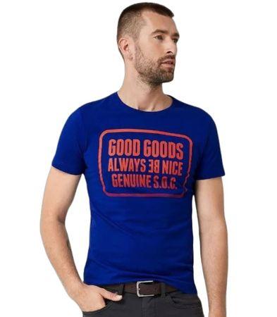 s.Oliver pánské tričko 13.907.32.7664 XXL modrá