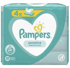 Pampers Nedves törlőkendő Sensitive 4x52db