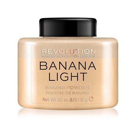 Makeup Revolution Transparentný púder (Loose Baking Powder Banana Light ) 32 g