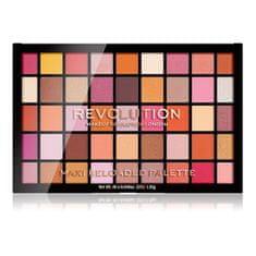 Makeup Revolution Paletka pudrových očních stínů Maxi Reloaded Palette Big Big Love 60,75 g
