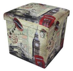 Westside Sedací box Londýn 38x38x38 cm