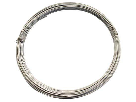 Vázací drát 1,4/2,0mm Zn+PVC, bílý - délka 50m