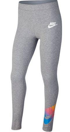 Nike dziewczęce leginsy Sportswear XL, szary