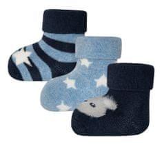 EWERS tri para čarapa za dečke, medvjed