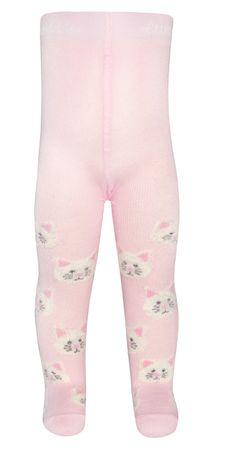 EWERS dekliške hlačne nogavice, motiv muc, 56, roza
