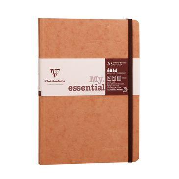 Clairefontaine zvezek Age bag Myessential A5, črtni, z elastiko, 14,8x21 cm