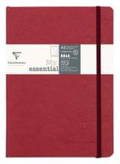 Clairefontaine zvezek Age bag Myessential A5, z elastiko, rdeč, 96 listov
