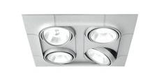 FOZZ FOZZ Svítidlo AERO GX53 11W 4-Light sq AR111 matná stříbrná/bílá