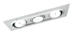 FOZZ FOZZ Svítidlo AERO GX53 11W triple AR111 matná stříbrná/bílá