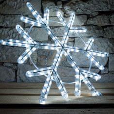 DecoLED LED svetelný motív - vločka, ľadovo biela, priemer. 60 cm