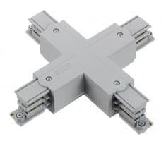 NORDIC ALUMINIUM NORDIC ALUMINIUM X-konektor 3-okruhová napájacia lišta GLOBAL Trac XTS38-1 Šedá