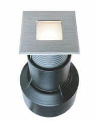 Light Impressions Light Impressions Deko-Light zemní svítidlo Basic Square I WW 24V DC 0,55 W 3000 K 14 lm 45 mm stříbrná 730340