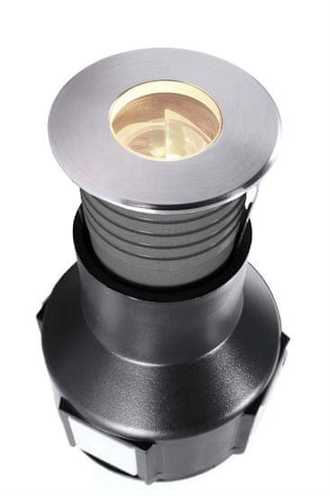 Light Impressions Light Impressions Deko-Light zemní svítidlo Fornac 24V DC 2,70 W 3000 K 110 lm stříbrná 730447