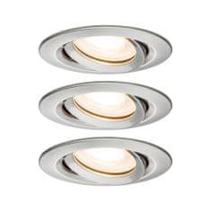 Paulmann PAULMANN Vestavné svítidlo LED Nova kruhové 3x7W GU10 kov kartáčovaný nastavitelné 929.00 P 92900 92900