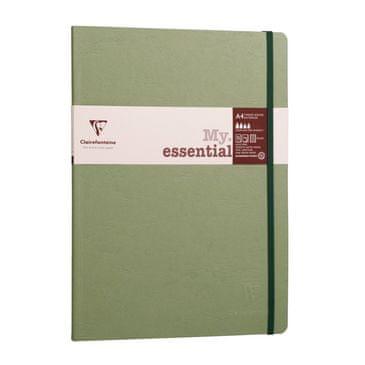 Clairefontaine zvezek Age bag Myessential A4, črtni, z elastiko, 96 listov