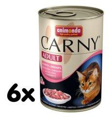 Animonda mokra karma dla kota Carny indyk + krewetki 6 x 400g