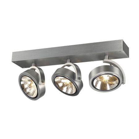 BIG WHITE BIG WHITE KALU, nástěnné a stropní svítidlo, tři žárovky, QR111, kulaté, kartáčovaný Al, max. 150W 147276