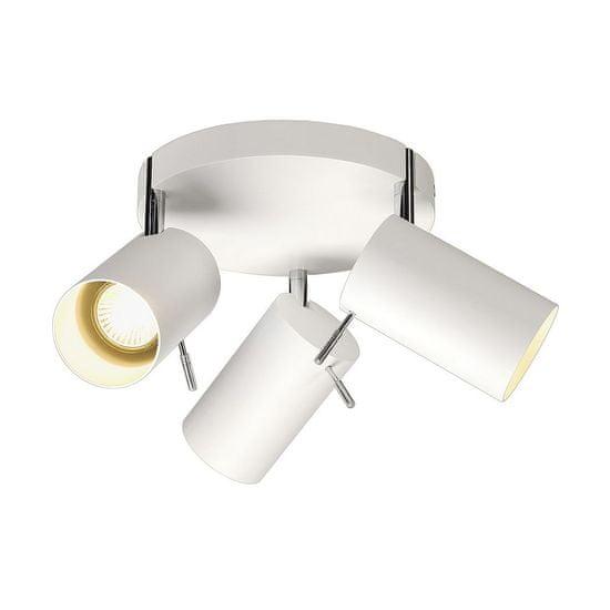 BIG WHITE BIG WHITE ASTO TUBE 3, nástenné a stropné svietidlo, tri žiarovky, QPAR51, guľatá rozeta, biele, max. 225 W 147414