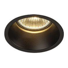 BIG WHITE BIG WHITE HORN 1, vestavné svítidlo, QPAR51, jedna žárovka, kulaté, černé matné, max. 50W, vč. upínacích pružin 112910