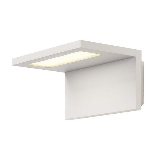 BIG WHITE BIG WHITE ANGOLUX WALL, vonkajšie nástenné svietidlo, LED, 3000K, IP44, biele, 36 SMD LED, max. 7,51 W 231351