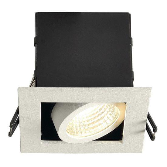 BIG WHITE BIG WHITE SADA KADUX 1, vestavné svítidlo, jedna žárovka, LED, 3000K, hranaté, bílé matné, 38°, 9W, vč. ovladače 115701