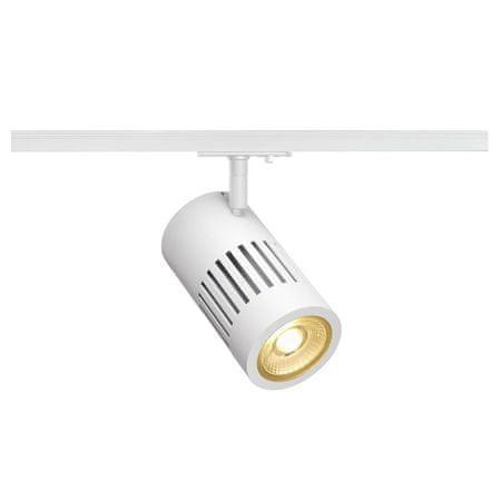 BIG WHITE BIG WHITE STRUCTEC, bodové svítidlo pro vysokonapěťovou 1fázovou proudovou sběrnici, LED, 3000K, kulaté, bílé, 36°, 24W, vč. 1f
