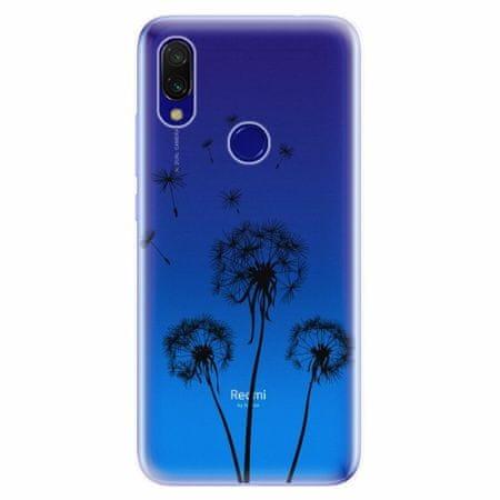 iSaprio Silikonové pouzdro - Three Dandelions - black - Xiaomi Redmi 7