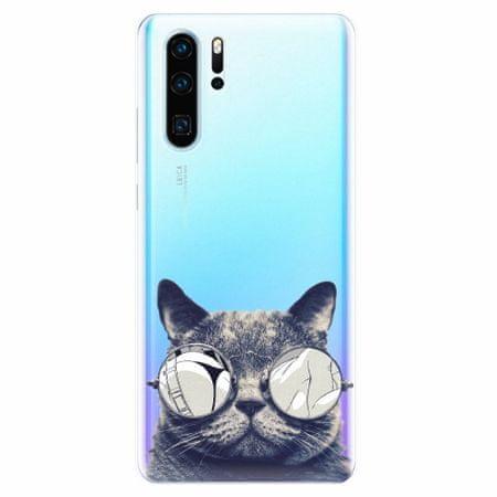 iSaprio Silikonové pouzdro - Crazy Cat 01 - Huawei P30 Pro