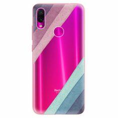 iSaprio Silikonové pouzdro - Glitter Stripes 01 - Xiaomi Redmi Note 7