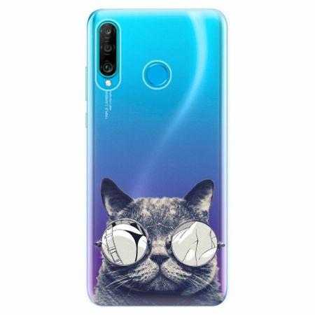 iSaprio Silikonové pouzdro - Crazy Cat 01 - Huawei P30 Lite