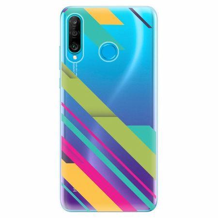 iSaprio Silikonové pouzdro - Color Stripes 03 - Huawei P30 Lite