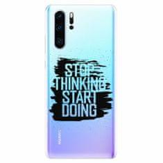 iSaprio Silikonové pouzdro - Start Doing - black - Huawei P30 Pro