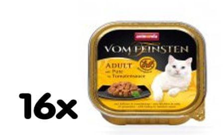 Animonda mokra mačja hrana, puran+paradižnik, brez žitaric in glutena 16x100g