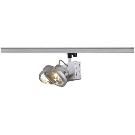 BIG WHITE BIG WHITE TEC 1, bodové svítidlo pro vysokonapěťovou 3fázovou proudovou sběrnici, jedna žárovka, QR111, stříbrošedé, max. 50W,