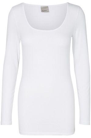 Vero Moda Női T LS SOFT VMMAXI én hosszú U-nyakú GA NOOS Bright White (méret XS)