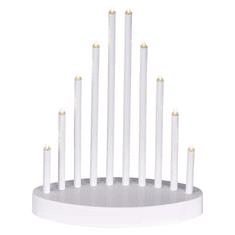 EMOS świecznik LED biały 3x AA, ciepła biała, timer