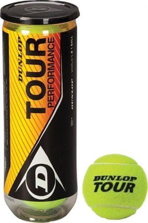 Spartan teniške žogice Dunlop Tour Perfoment